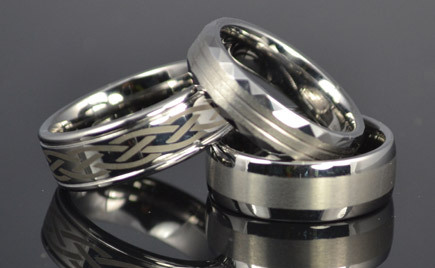 A pair of titanium rings.